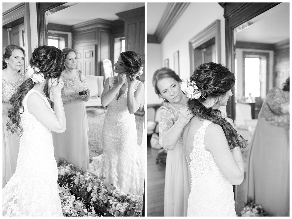 A blush, romantic, rustic wedding at Dulany's Overlook in Frederick, Maryland.