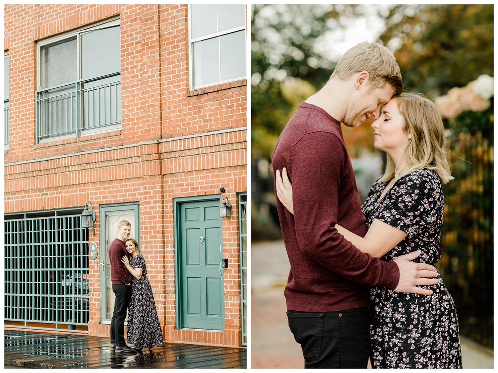 A romantic Fells Point engagement session in the rain.