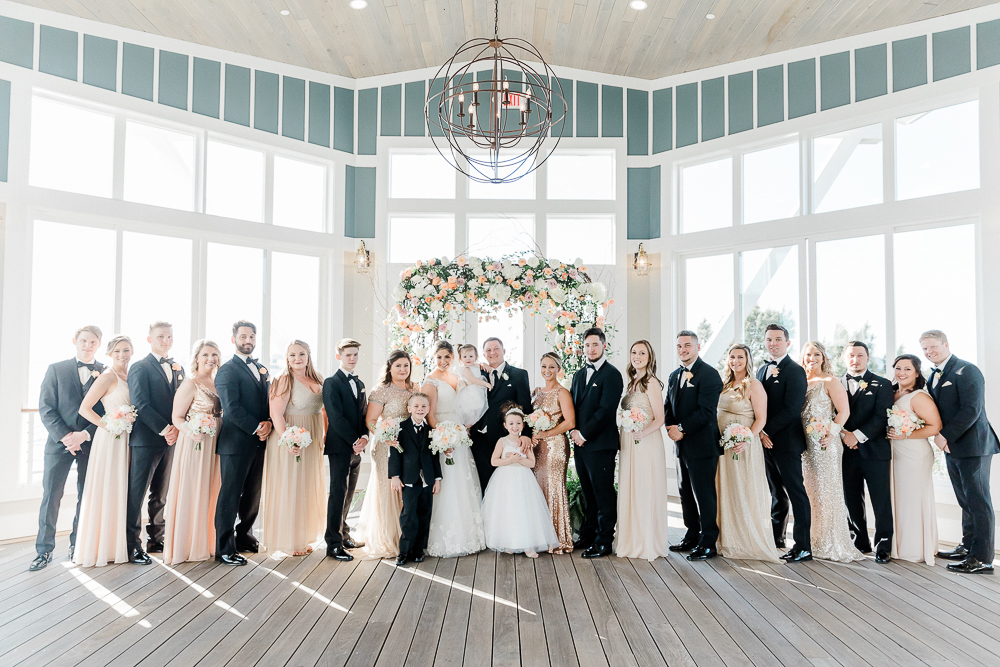 A luxurious, black tie wedding at the Chesapeake Bay Beach Club in Annapolis, Maryland.