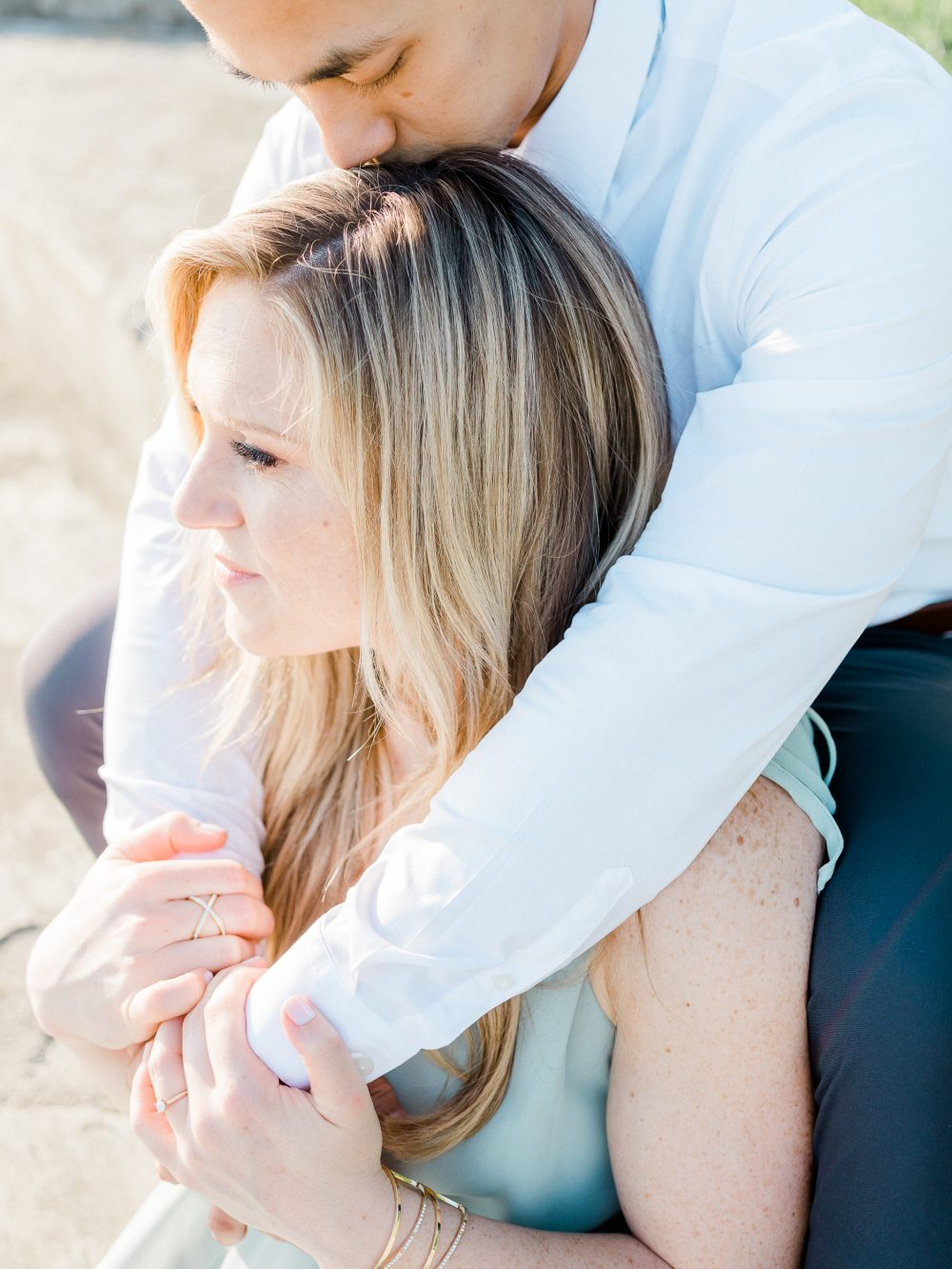 A light and airy engagement session at Quiet Waters Park in Annapolis, Maryland