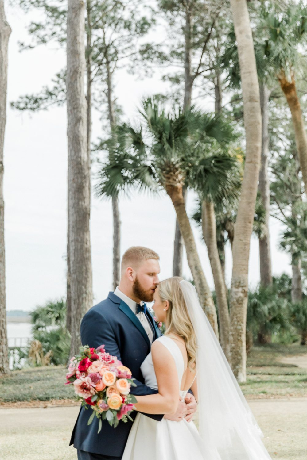 A southern, happy, pink wedding at the Montage Palmetto Bluff in South Carolina.