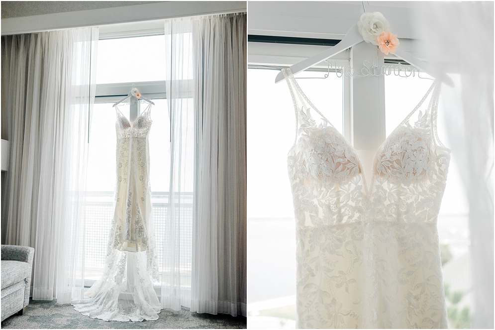 A wild Hyatt wedding where the ceremony took place on a dock on the Choptank River in Cambridge, Maryland..
