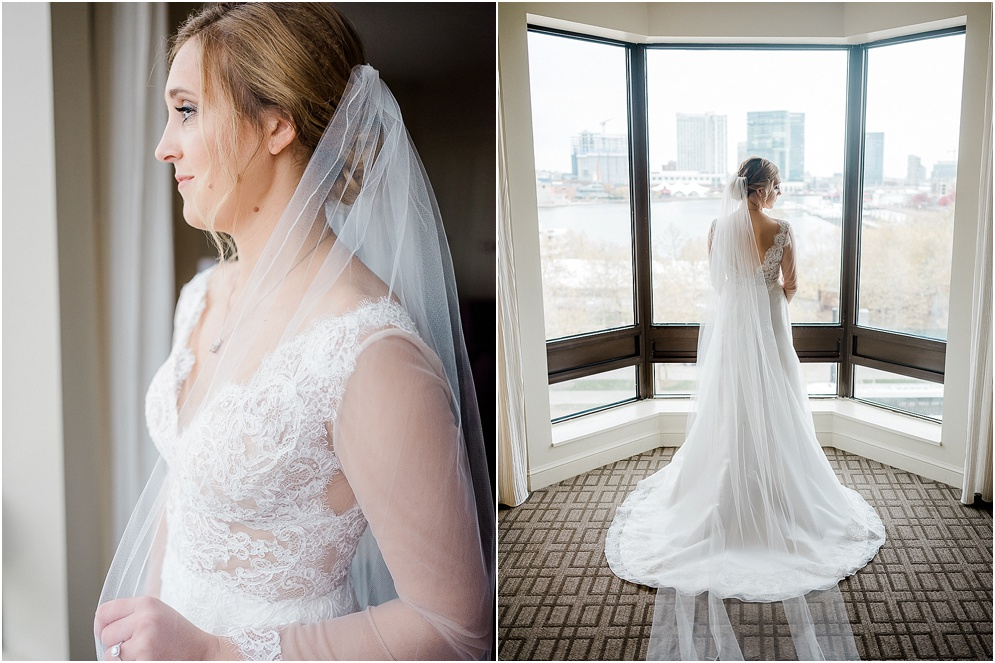 A chic, industrial wedding at the Winslow Room in Baltimore, Maryland.