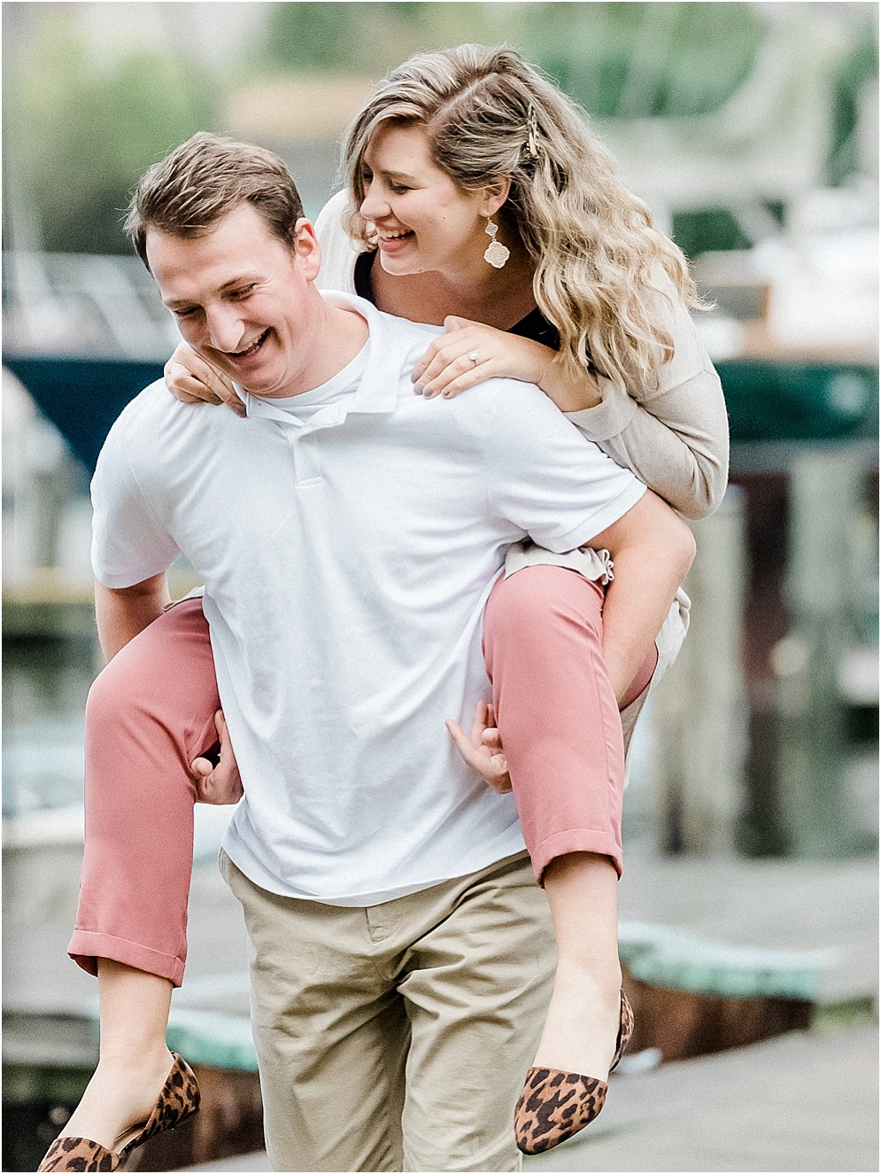 A playful engagement session in Downtown Annapolis