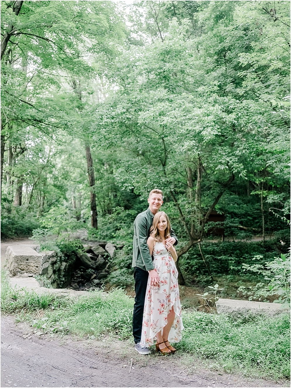 A hidden forest engagment session at Shenk's Ferry Wildflower Preserve in Lancaster, Pennsylvania.