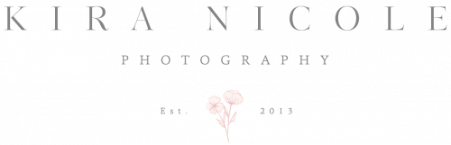 Kira Nicole Photography main logo for Annapolis, MD Wedding Photographer.